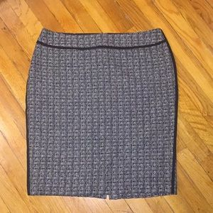 Ann Taylor Black & White Tweed Pencil Skirt